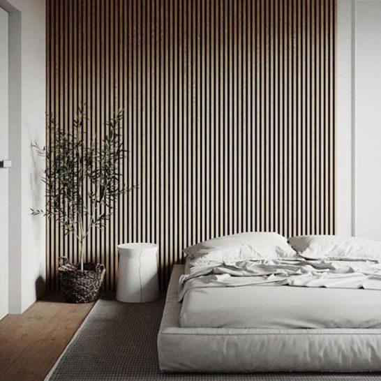 Akoestische panelen in de slaapkamer